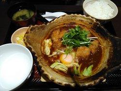 チキンの味噌かつ煮定食