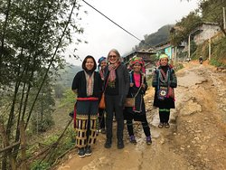 The start of our trek with Ta May from Seeking Sapa.