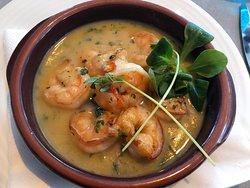 Pan-fried Shrimp Riso Ristorante & Terrace
