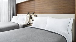 Rest easy on the Canopy exclusive bed with gel memory foam & Serta Cool Balance Technology