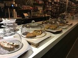 Come try our in haus baked cookies, or a warm brownie, apple crumble, cheesecake... oh and so much more!