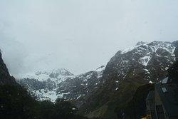Snow peaked mountain view
