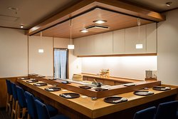 Modern but also traditional Japanese restaurant.