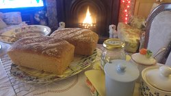 Bread baked fresh every morning, served with home made jams and marmalades...and don't forget to try the fresh laid farm eggs too !