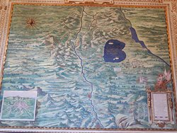 Ancient map tapestry