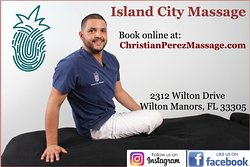 Massage therapy treatments in the downtown area of Wilton Manors, Florida.