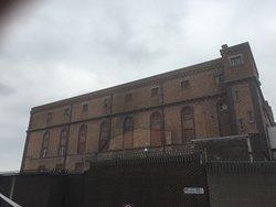 Big old brick buildings.