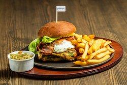 Ceasar Burger + Fries + Guacamole