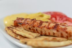 Chicken Souvlaki with Pita bread