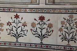 The Mughal architecture of the guest house, similar to the one in Taj Mahal