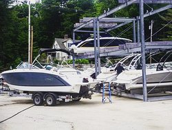 More of our Cobalt Rental boats being prepped for our rental boat customers.