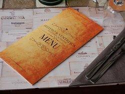 la copertina del menu