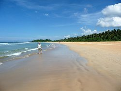 The huge beach at Bentota