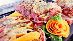 Lonza di Mora Romagnola con zucca speck e porcini