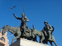 Statue de Don Quichotte et Sancho Panza