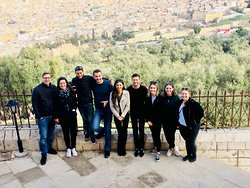The group looking over Fes