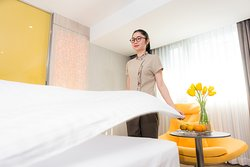 The hotel provides the sort of personal of personalized experience for guests.