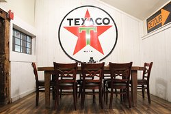 Semi private dining room, Texaco.  Two tables of eight, can be combined to accommodate large parties.