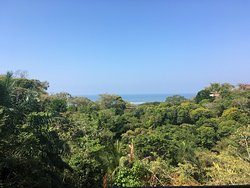 View of the Pacific Ocean from our room