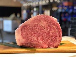 Wagyu de la Prefectura de Kagoshima BMS (marmoleo de la carne) 8-10, grado calidad de la carne A5
