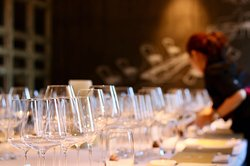 Wine dinner in private room that can hold 20 people.