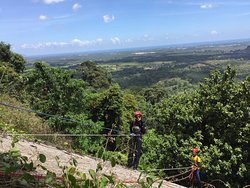 Abseiling at Batu Jong organized by Jenoba Outdoor. Enjot the great view of Kuala Terengganu while abseiling down the magnificent rock formation
