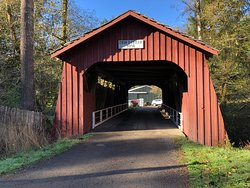‪Drift Creek Covered Bridge‬