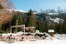 Our terrace is unique in the valley, sunny and warm even during the winter!