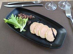 Foie gras et compotée d'oignons
