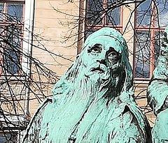Elias Lonnorot Monument - памятник Элиасу Лённроту, март.