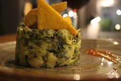 Rape e patate con triangoli di polenta