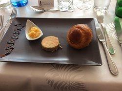 Foie gras chutney de saison et sa briochette