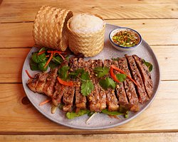 Weeping Tiger ( Thai style Sirloin steak with spicy sauce)
