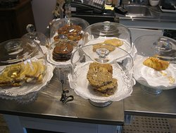 A variety of desserts are offered at The Cheese Gallery in Thornbury. They are freshly-made.