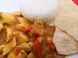 Chicken curry, available on Mondays.
