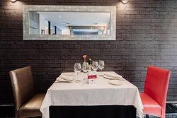 Restaurante Ex libris, mesa montada