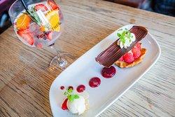 Sable Breton - Berries, Vanilla Ice Cream, Vanilla Cream & Candied Nuts