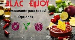 Tenemos opciones sin lactosa, sin gluten, vegetarianas y veganas. Blac Enjoy un restaurante para tod@s!! Te esperamos