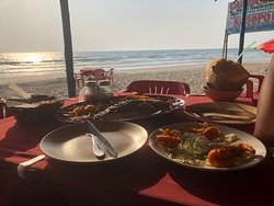 Awesome local Goan Beach Seafood Bar and Grill