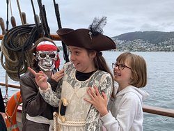 Pirate birthday girl and friends