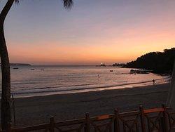 Sunset at Vainguinim Beach.