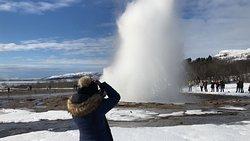 Beautiful geysers area