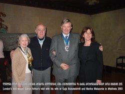 "🤝 London's Lord Mayor Gavyn Arthur's with his wife at ""Restaurant Museum Gujari"", 2013  🤝 Визит лорд-мэра Лондона Гэвина Артура с супругой в «Ресторан Музее Гуджари», 2013"