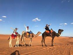 Chegando ao Camping no deserto!