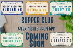 Arriving from 26 March - Supper Club