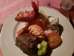 Valentin Imperial Riviera Maya - Filet and (add on) twin lobster tails at Mar y Tierra
