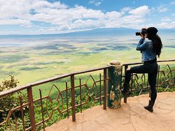 Getting the perfect shot 📸 of the Ngorongoro Crater 🐘🦍🦓