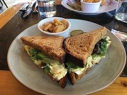 Egg salad sandwich.