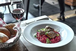 Kangaroo fillet and beetroot risotto!