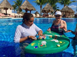 Blackjack in the pool - a real first for us - and fun!